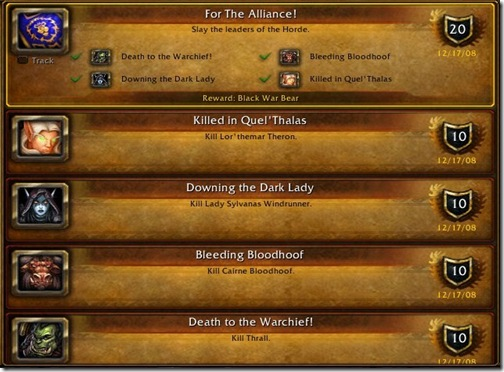 For The Alliance Achievements
